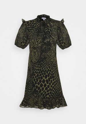 IDOL V NECK RUFFLE TEADRESS CROC - Robe d'été - green