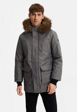Winter coat - blended light grey