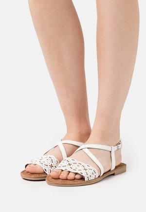 Sandals - white/brandy