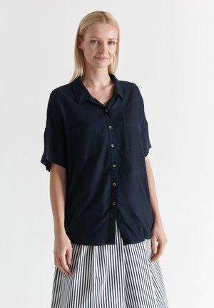 RETIKIA - Button-down blouse - navy blue