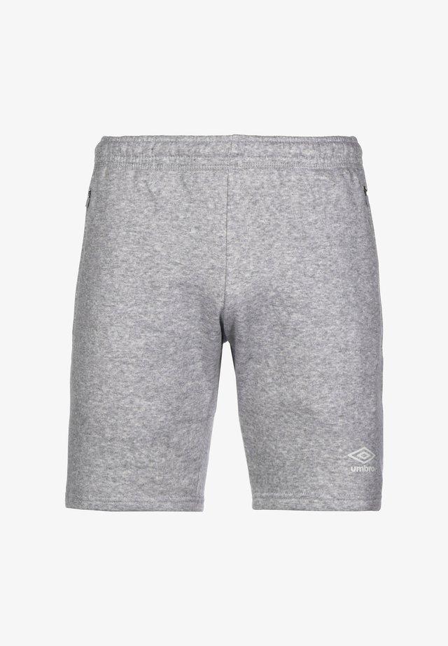 Sports shorts - grey marl / white