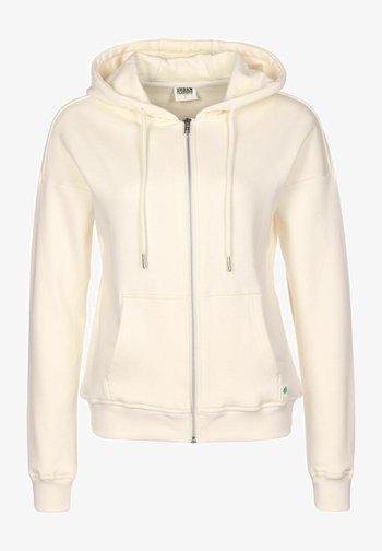 Zip-up sweatshirt - beige