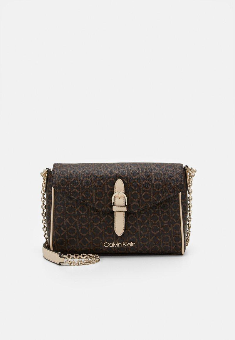 Calvin Klein - FLAP CROSSBODY - Across body bag - brown