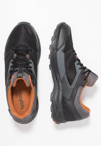 Haglöfs - TRAIL FUSE GT MEN - Hiking shoes - true black/desert yellow - 1