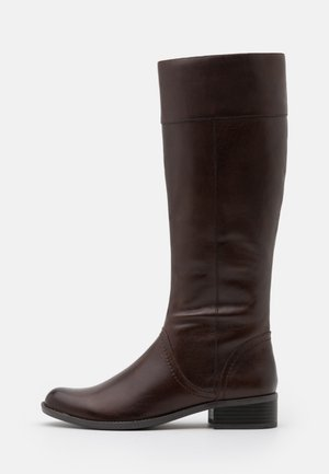 BOOTS - Vysoká obuv - dark brown