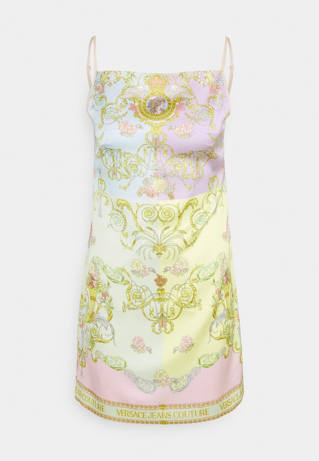 LADY DRESS - Sukienka letnia - blue bell/pink confetti/light green