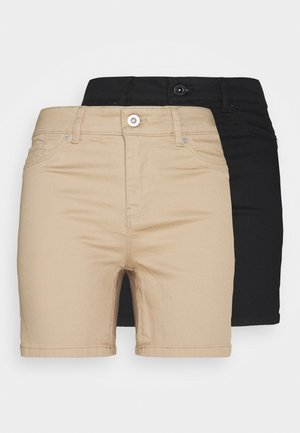 VMHOTSEVEN 2 PACK - Denim shorts - black