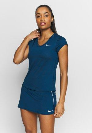 DRY - Basic T-shirt - valerian blue/white