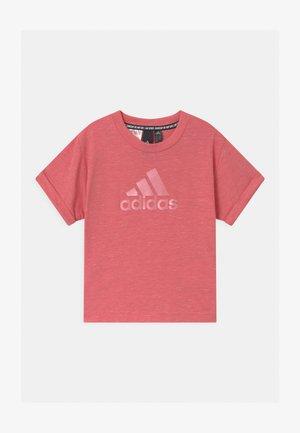 LOGO TEE - Camiseta estampada - hazy rose melange