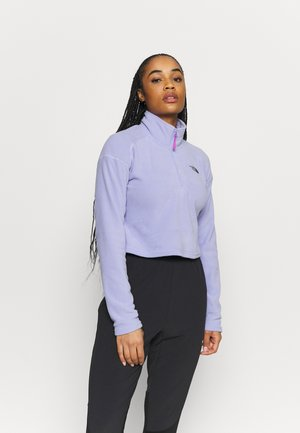 GLACIER CROPPED ZIP - Fleece trui - sweet lavender