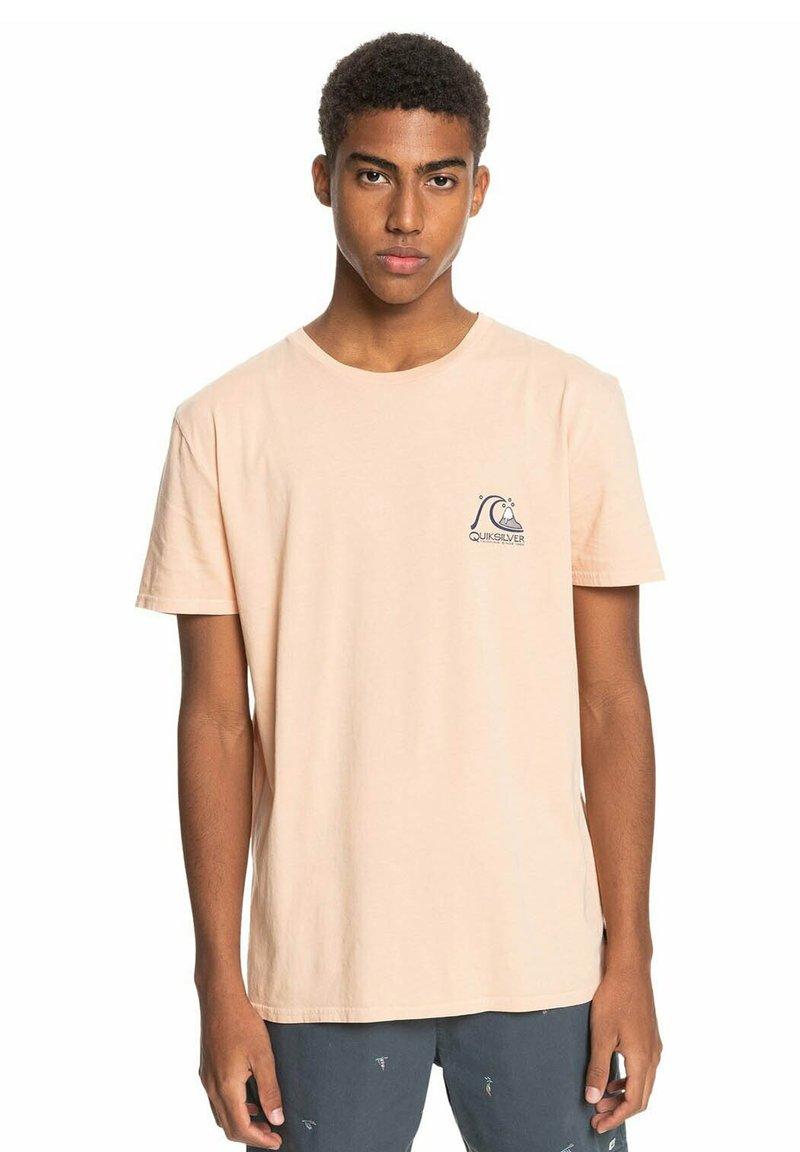 Quiksilver - FRESH TAKE - Print T-shirt - apricot