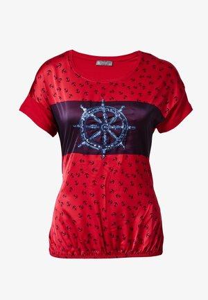 ANKER - Print T-shirt - rot
