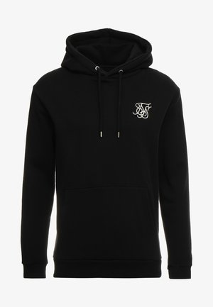 MUSCLE FIT OVERHEAD HOODIE - Bluza z kapturem - black