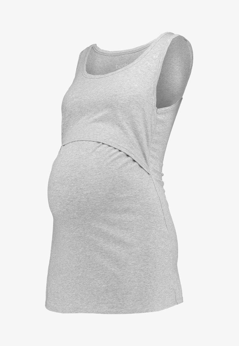 Boob CLASSIC TANK - Top - grey melange/grau tQdJGO