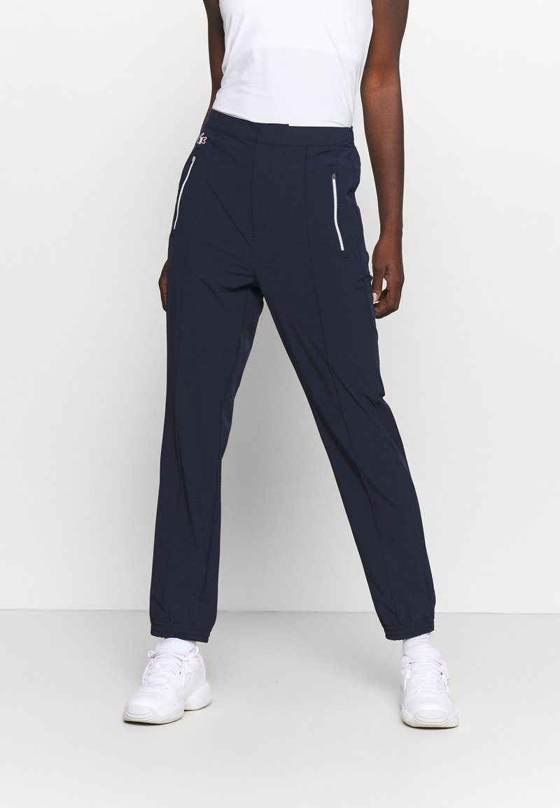 Lacoste Sport - OLYMP PANT - Trousers - navy blue/white