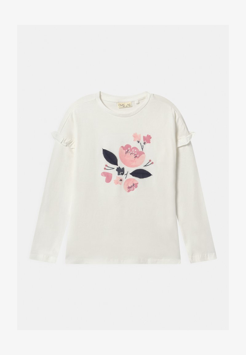 OVS - FLOWERS - Long sleeved top - snow white