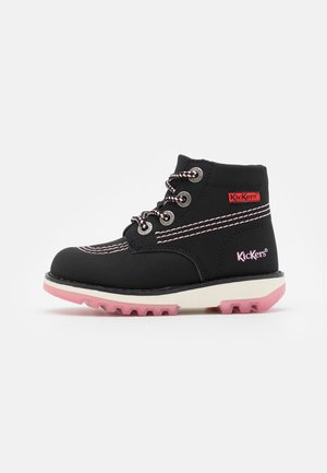 KICKRALLY - Lace-up ankle boots - noir/rose