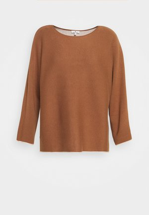 BATWING DOUBLE FACE - Sweter - light chestnut
