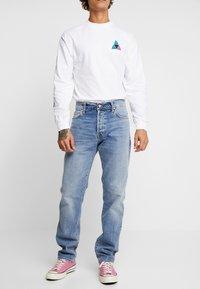 Carhartt WIP - KLONDIKE MILLS - Straight leg jeans - blue worn bleached - 0