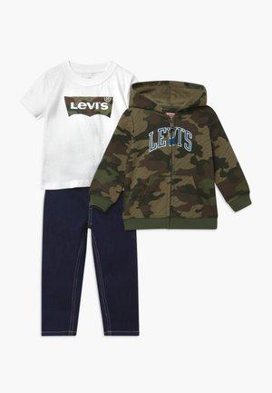 COLLEGIATESET - Zip-up hoodie - thyme