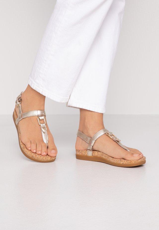 ALEIGH - T-bar sandals - gold