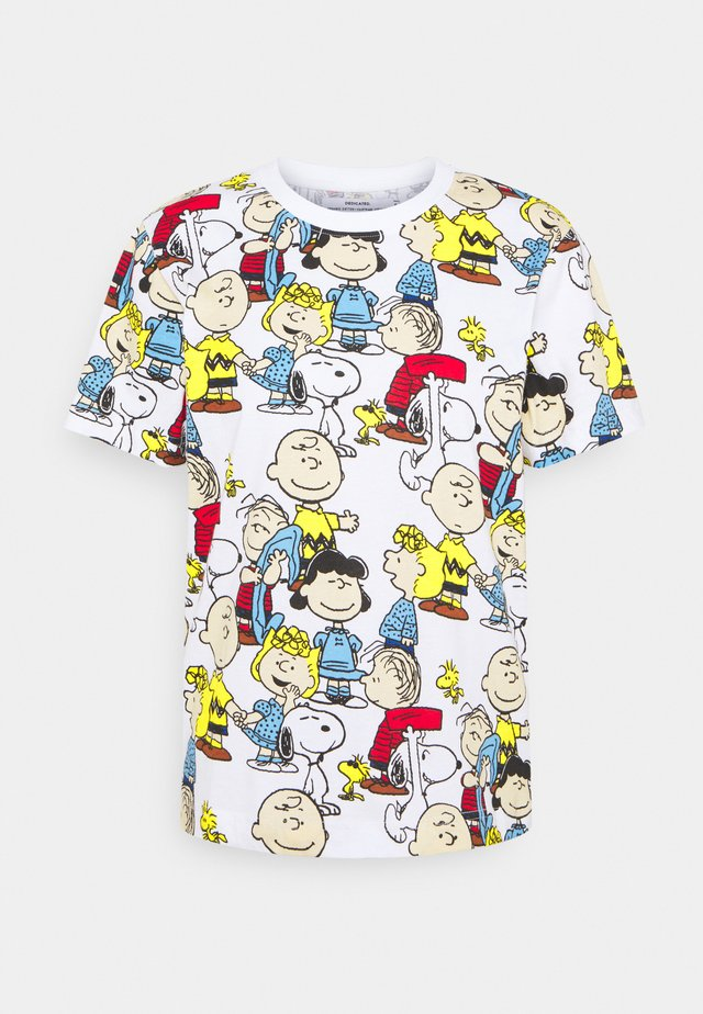 MYSEN PEANUTS - T-shirts med print - white