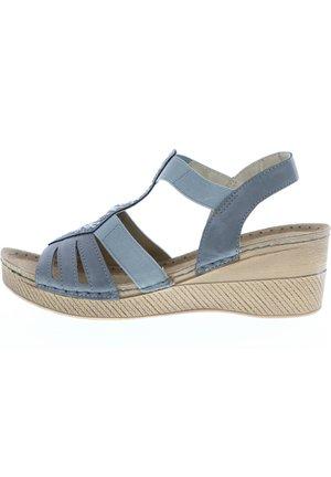 Wedge sandals - grau