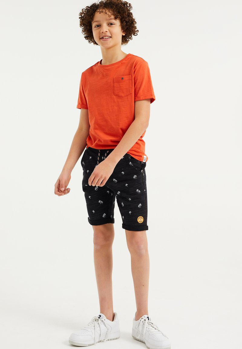 WE Fashion - MET PALMBOOMOPDRUK - Shorts - black