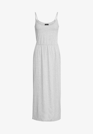 Basic Strappy Maxikleid - Maxi dress - mottled light grey