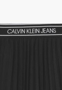 Calvin Klein Jeans - MIDI - Áčková sukně - black - 3