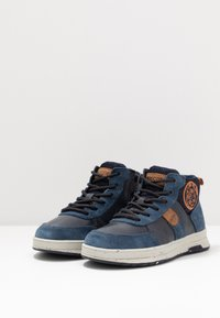 Geox - ASTUTO BOY - High-top trainers - navy/orange - 3