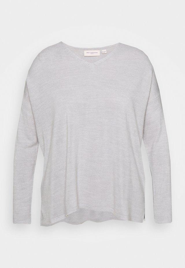 CARAMALIA V NECK - Sweter - light grey melange