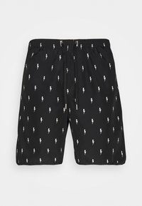 ALL OVER SMALL THUNDERBOLT - Shorts - black/white