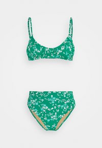 Cotton On Body - CROP HIGHWAISTED CHEEKY SET - Bikini - emarald - 0