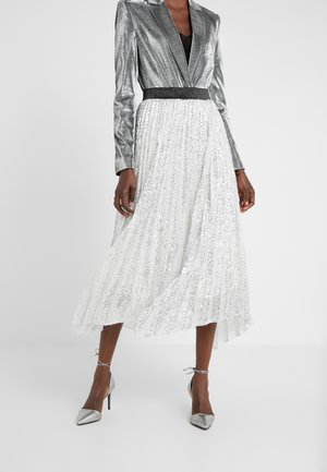 ARLO HANDKERCHEIF HEM PLEATED SKIRT - A-line skirt - silver