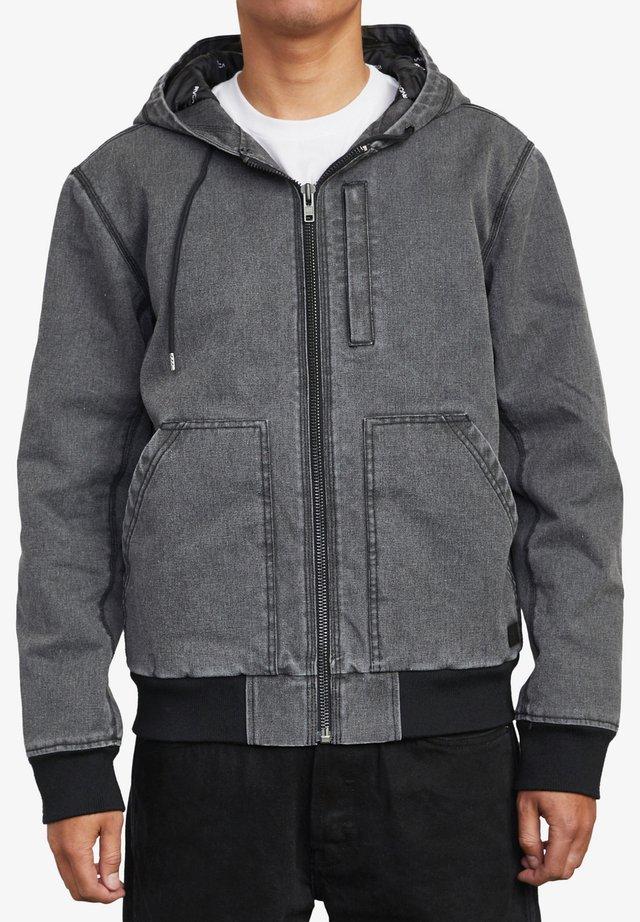 CANVAS - veste en sweat zippée - rvca black
