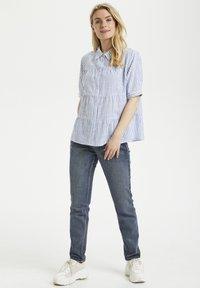 Cream - Button-down blouse - blue milkboy stripe - 1