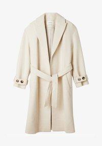 Stradivarius - Classic coat - white - 4