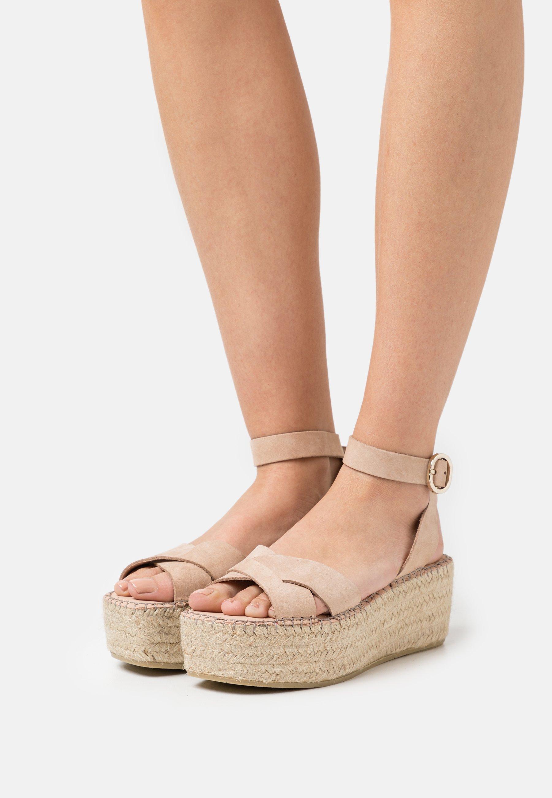 Women PRAIDY - Platform sandals - taupe