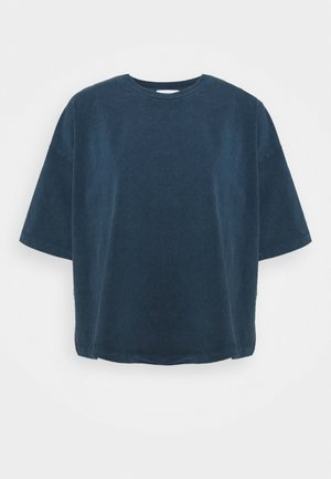 ACID WASH TEE - Jednoduché triko - denim blue