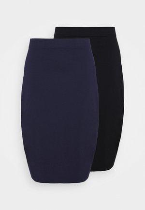 2 PACK - Pouzdrová sukně - black/blue
