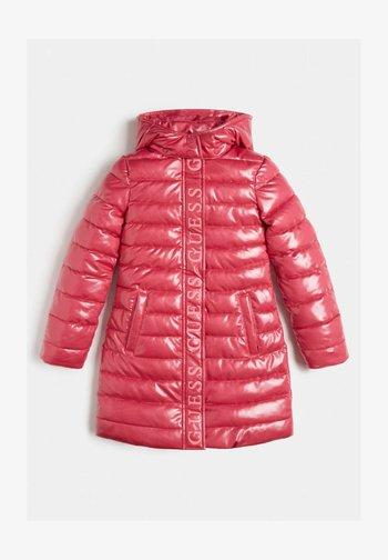 WATTIERTE GLITZER - Winter coat - dunkelrosa