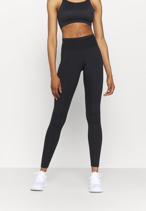 EPIC LUXE TRAIL - Leggings - black/dark smoke grey/silver
