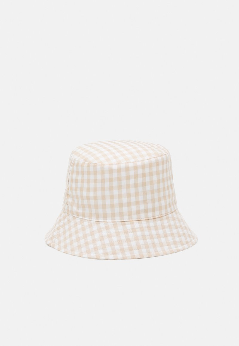 Pieces - PCLAYA BUCKET HAT - Klobouk - bright white/almond buff