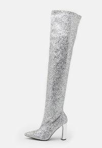 BEBO - LIMA - Kozačky na vysokém podpatku - silver glitter - 1