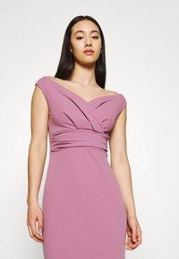 WAL G. - ANDREW OFF SHOULDER DRESS - Suknia balowa - mauve pink - 4