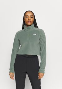 The North Face - GLACIER CROPPED ZIP - Fleece jumper - agave green - 0