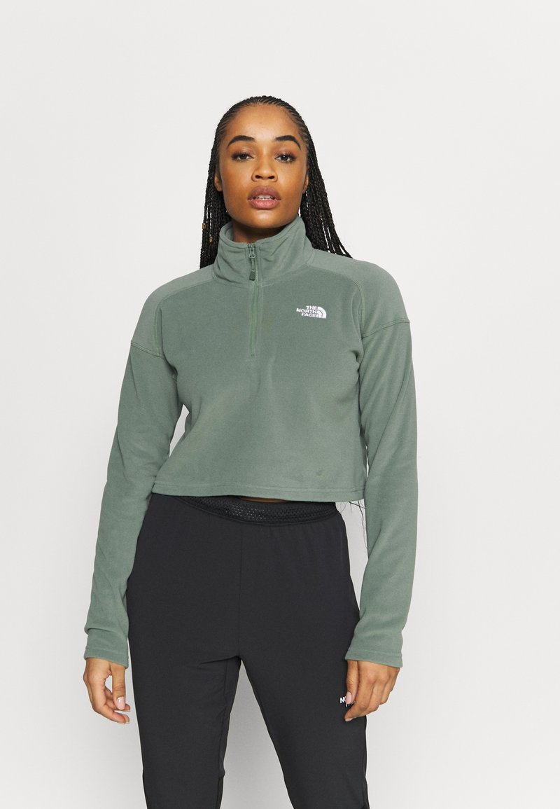 The North Face - GLACIER CROPPED ZIP - Fleece jumper - agave green