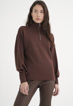 Sweatshirt - coffee brown