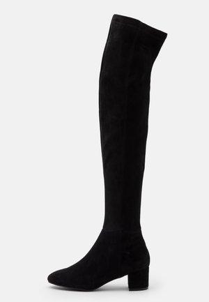 Overkneeskor - noir